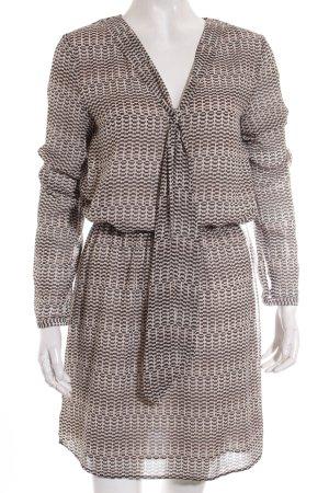 Mango Suit Langarmkleid abstraktes Muster Casual-Look