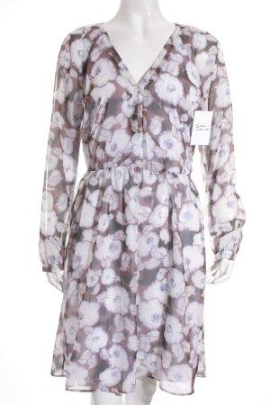 Mango Suit Langarmkleid florales Muster klassischer Stil