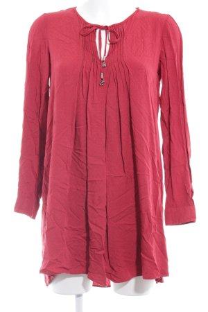 Mango Suit Langarmkleid rot Boho-Look