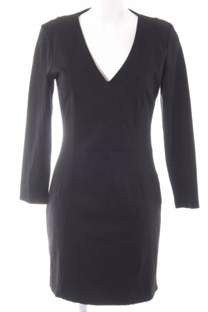 Mango Suit Langarmkleid schwarz Business-Look