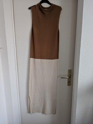 Mango Suit Gebreide jurk lichtbruin-wolwit