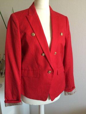 Mango Suit Blazer de esmoquin rojo