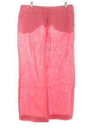 Mango Suit Linnen broek roze casual uitstraling