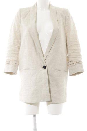 Mango Suit Long-Blazer creme meliert Casual-Look