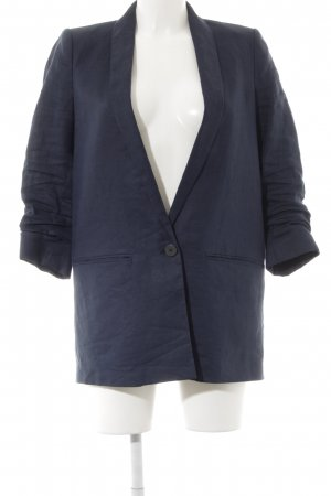 Mango Suit Long-Blazer dunkelblau meliert Casual-Look