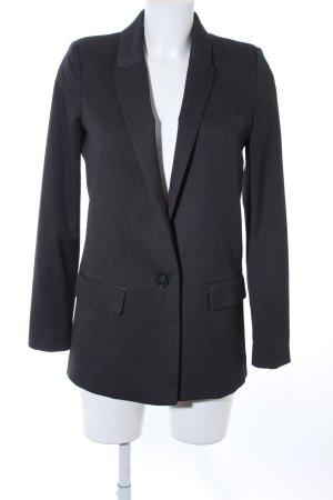 Mango Suit Long-Blazer dunkelgrau Business-Look