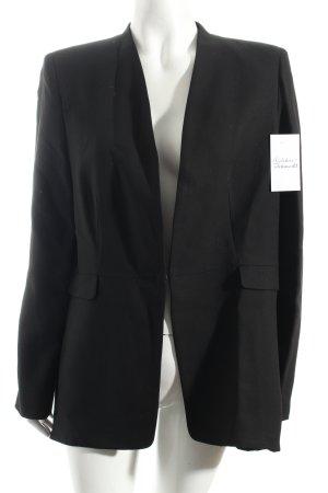 Mango Suit Long-Blazer schwarz klassischer Stil