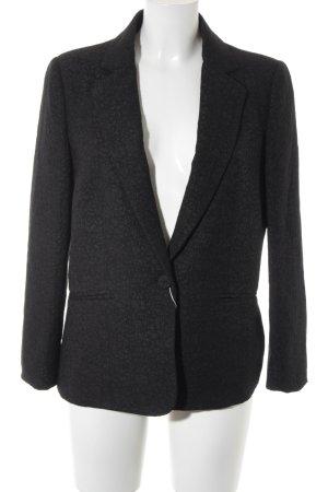 Mango Suit Long-Blazer schwarz-rosé Blumenmuster Business-Look