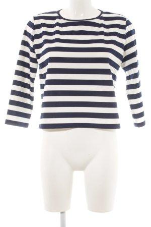 Mango Suit Longsleeve weiß-dunkelblau Streifenmuster Casual-Look