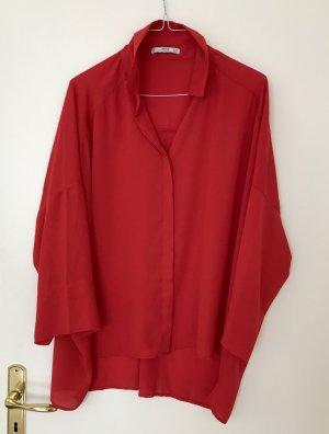 Mango Suit M Bluse oversize rot neu
