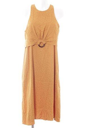 Mango Suit Midi Dress orange animal pattern extravagant style