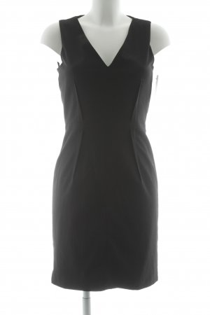 Mango Suit Midi-jurk zwart zakelijke stijl
