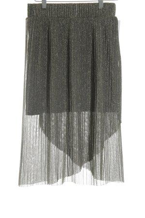 Mango Suit Midirock schwarz Glitzer-Optik