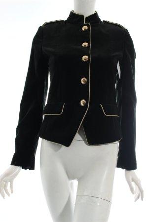 Mango Suit Militaryjacke schwarz Eleganz-Look