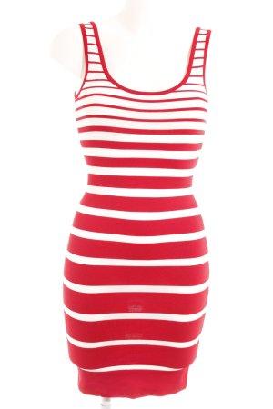 Mango Suit Minikleid rot-weiß Streifenmuster Street-Fashion-Look