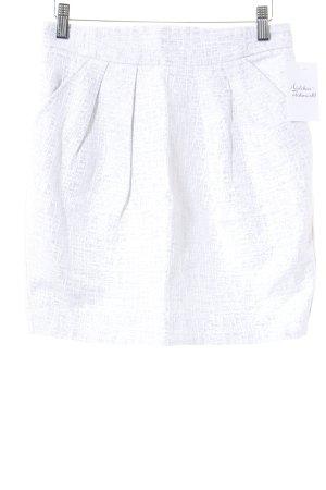 Mango Suit Minirock hellgrau-wollweiß abstraktes Muster Casual-Look