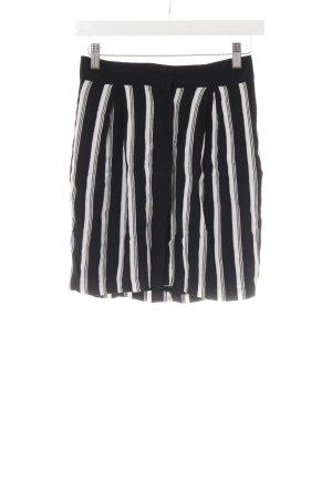 Mango Suit Minirock schwarz-weiß Streifenmuster Casual-Look
