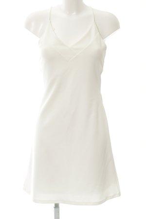 Mango Suit Neckholderkleid wollweiß Elegant