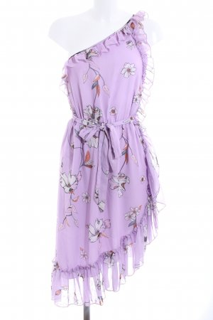 Mango Suit One Shoulder Dress flower pattern elegant