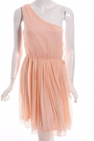 Mango Suit One-Shoulder-Kleid apricot Party-Look