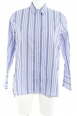 Mango Suit Oversized blouse wit-blauw gestreept patroon straat-mode uitstraling