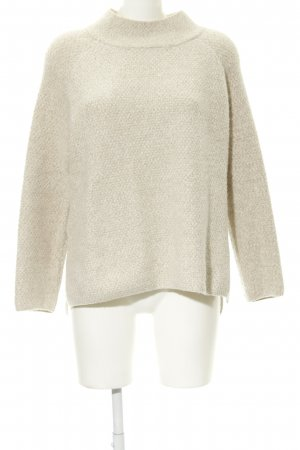 Mango Suit Oversized Sweater cream flecked