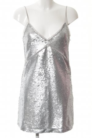 Mango Suit Jurk met pailletten zilver extravagante stijl