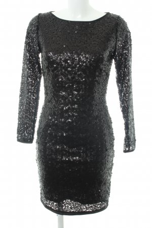 Mango Suit Sequin Dress black elegant