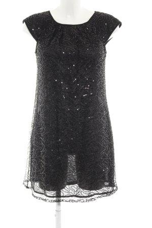 Mango Suit Pailettenkleid schwarz Glitzer-Optik