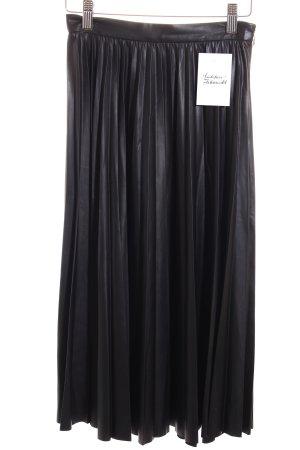 Mango Suit Plisseerock schwarz Elegant