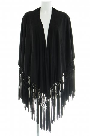 Mango Suit Poncho negro look casual