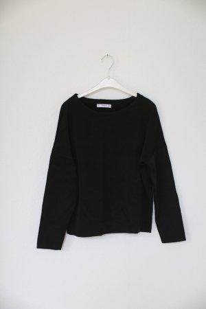 Mango Suit Pullover Knit schwarz leicht cropped G. M
