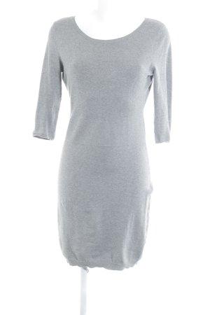Mango Suit Sweaterjurk grijs-lichtgrijs gestippeld zakelijke stijl