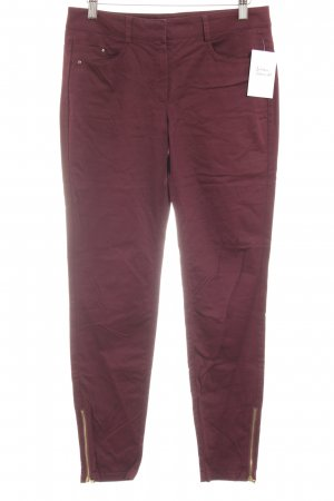 Mango Suit Drainpipe Trousers bordeaux casual look