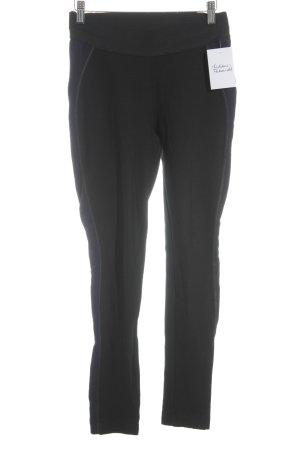 Mango Suit Röhrenhose schwarz-blau Casual-Look