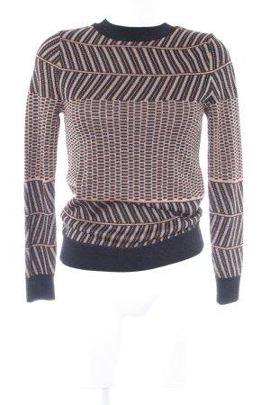 Mango Suit Rundhalspullover abstraktes Muster Glitzer-Optik