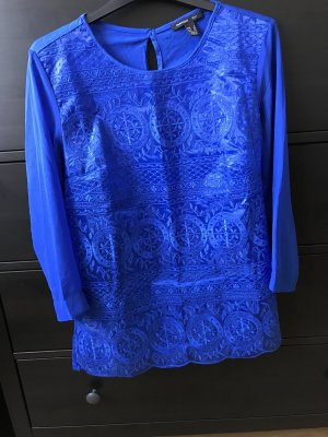 Mango Suit S 36 blau mit spitze Bluse Shirt