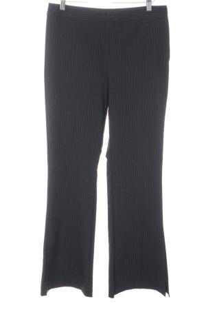 Mango Suit Schlaghose schwarz Nadelstreifen Business-Look