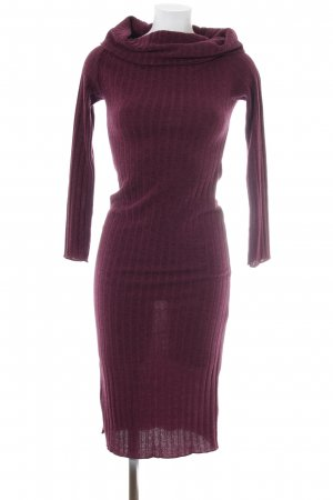 Mango Suit Tube Dress purple flecked casual look