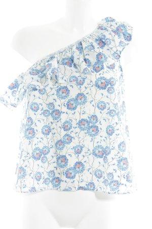 Mango Suit Schlupf-Bluse florales Muster minimalistischer Stil