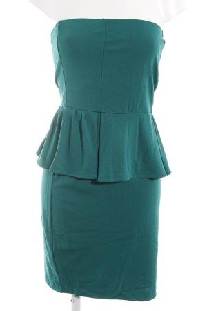 Mango Suit Peplum jurk bos Groen elegant