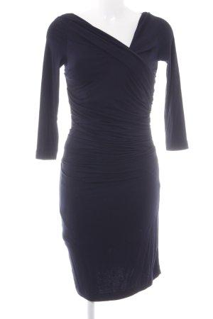 Mango Suit schulterfreies Kleid dunkelblau klassischer Stil