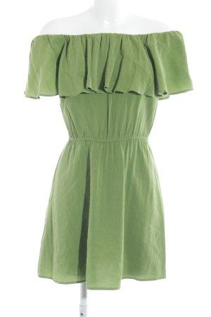 Mango Suit schulterfreies Kleid grün Elegant
