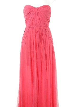 Mango Suit schulterfreies Kleid neonpink extravaganter Stil