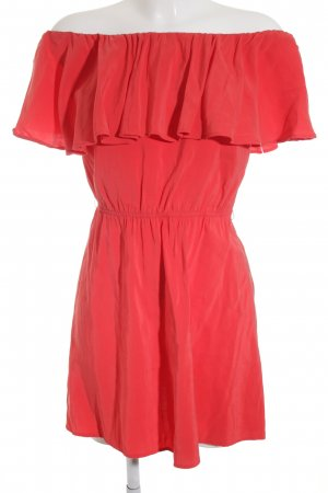 Mango Suit schulterfreies Kleid rot Romantik-Look