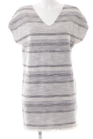 Mango Suit Robe t-shirt gris clair-blanc cassé Motif de tissage