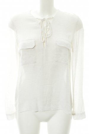 Mango Suit Shirt Tunic natural white-cream flecked casual look