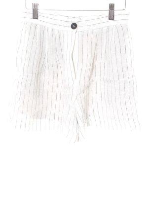 Mango Suit Shorts weiß-schwarz Nadelstreifen Casual-Look
