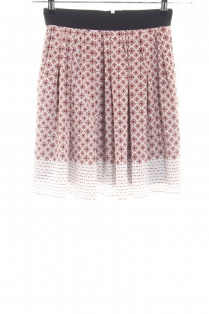 Mango Suit Skater Skirt red-white allover print casual look