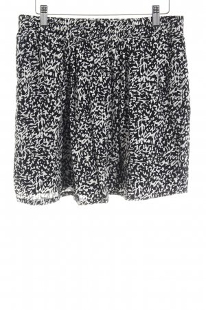 Mango Suit Skaterrok zwart-wit kleurvlekken patroon casual uitstraling